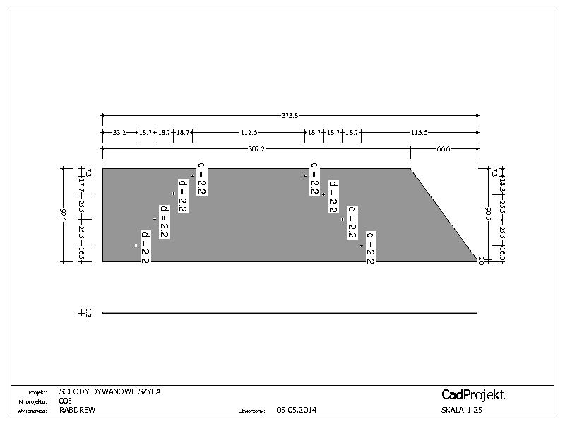 Schody Projekt 3 Cadprojekt Projekty Konstrukcji Drewnianych